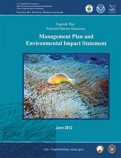 cover of the 2012 management plan and environmental impact statement